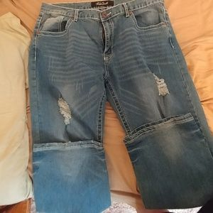 True Luck long distressed jeans
